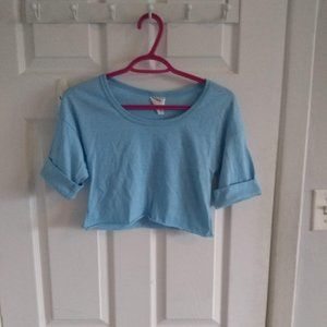🌼3 for$20🌼 Vintage blue crop top with sleeves